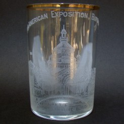 Pan American Exposition Drinking Glass Souvenir - Buffalo NY - 1901