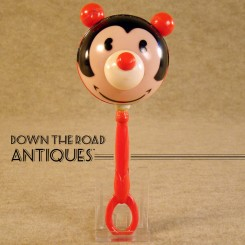 Mickey Mouse Celluloid Baby Rattle - Disney