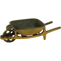 Solid Bronze Wheelbarrow Sculpture Ash Tray - 1930's
