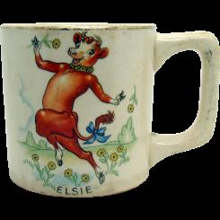 Elsie the Cow Ceramic Mug - 1930's