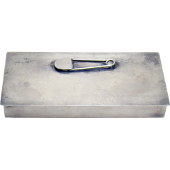 Sterling Safety Pin Container Box - 1940's