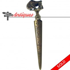Pan American Exposition souvenir letter opener with figural buffalo