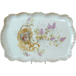 Hand-Painted Limoges Porcelain Dresser Tray