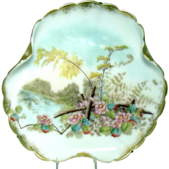 Hand-Painted Mount Washington Wall Plaque - 1880's