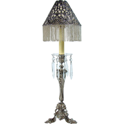 Signed Gorham Silver Plated Center-Table Candelabra