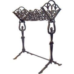 Art Deco Figural Iron Magazine Holder - 1920's