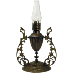 Ornate Brass Gimble Lamp - 1880's