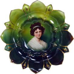 Lebrun Porcelain Portrait Bowl - R. S.