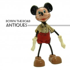 Marx Mickey Mouse bendy toy from Walt Disney Productions