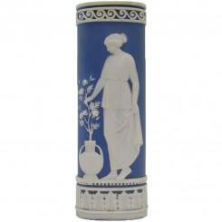 Signed Schafer & Vater German Jasperware Vase