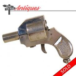 Rare Austrian miniature pistol lighter, signed AUSTRIA, DANDY and patented EA & JB