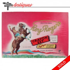 Roy Rogers and Trigger crayon set in the original box with stencils from the 1950's