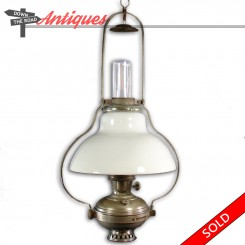 Aladdin adjustable hanging kerosene lamp from a country store, circa 1880's