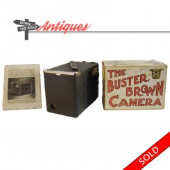 Buster Brown toy camera in the original box with instructions - 1900's
