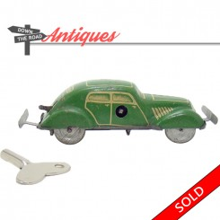 Antique German tin bump-and-go car wind-up toy