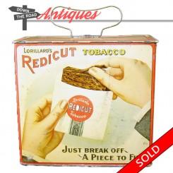 Vintage Lorillard's Redicut Tobacco advertising tin