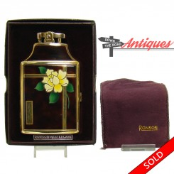 Ronson Dureum Mastercase lighter with enameled front, including original box and pouch