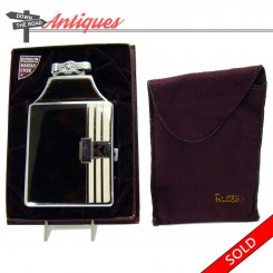 Ronson Master-case cigarette case and lighter combination with original box and pouch