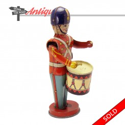 Tin Chein drum major marching band wind-up toy