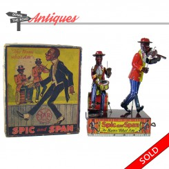 Marx Spic and Span wind-up toy with the original box, The Hams What Am