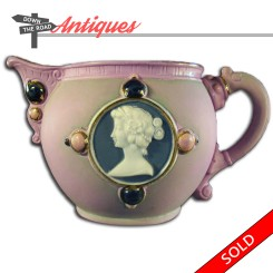 Antique Schafer and Vater creamer with cameo and medallions