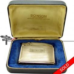 Sterling silver Ronson Adonis pocket lighter in the original case