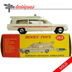Dinky Toys Superior Criterion Ambulance number 63, mint in the original box