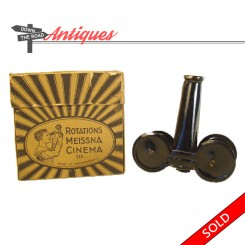 Czechoslovakian cinema viewer toy in the original box with films, 1920's