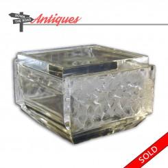 Lalique frosted glass dresser jar, signed Signed Lalique France