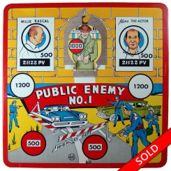 Marx Dick Tracy tin target game, Public Enemy No. 1