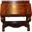 Flame Grained Mahogany Slant-Front Desk - 1880's