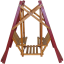 Miniature Wooden Swing set with Original Paint - 1910