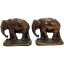 Cast Iron Elephant Bookends - Bronzed  1920's