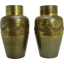 Hand-Hammered Brass Arts & Crafts Vases - WMF - Pair