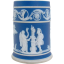 Signed Wedgwood Blue Jasperware Toothpick Holder - 1930's