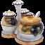 Six-Piece Noritake Lusterware Porcelain Condiment Set