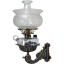 Cast Iron Bracket Lamp with Winged Griffin Shade - c. 1870's