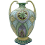 Hand-painted Nippon Moriage Porcelain Vase with Two Handles