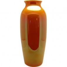 Large Orange Imperial Glass Vase