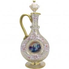 Hand-Blown Venetian Glass Ewer with Stopper - 1900