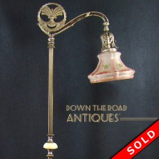Figural Silver Plated Alabaster Floor Lamp - 1910 (SOLD)
