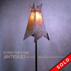 Arts & Crafts Floor Lamp with Original Mica Shade - 1920's (SOLD)