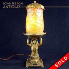 Lustre Art Egyptian Perfume Lamp - 1920's Art Deco (SOLD)