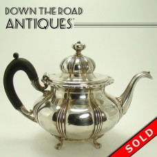 Signed Pairpoint Silver Plated Teapot with Fancy Ebony Handle (SOLD)