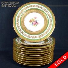 Bavarian Porcelain Cabinet Plates (set of 12) - HUTSCHENREUTHER - 1900's (SOLD)