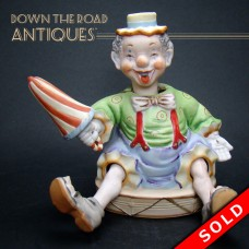Bisque Clown Nodder with Retractable Legs - Ardalt (SOLD)