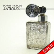 Backarat Glass Perfume Atomizer with Sterling Overlay - 1920's (SOLD)