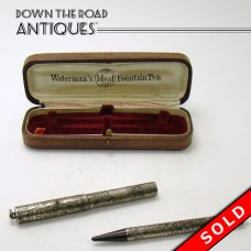 Waterman's Sterling Ideal Fountain Pen and Pencil Set in Box (SOLD)