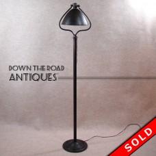 Bradley & Hubbard Adjustable Harp Floor Lamp - Solid Brass / Bronze -  1920's (SOLD)
