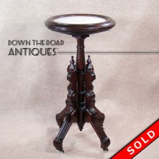 Walnut Table with White Marble Insert Top - 1880's (SOLD)